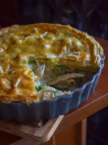 Chicken pie (tourte britannique aux restes de poulet))
