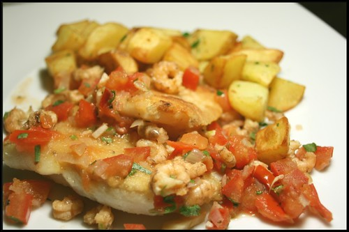Filets de barbue sauce vierge