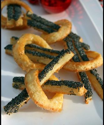 Cheese straws (allumettes au fromage)