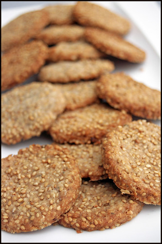 Oat crackers (biscuits aux flocons d'avoine)