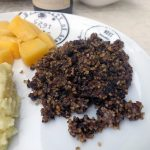 Haggis, neeps and tatties (plat traditionnel écossais)