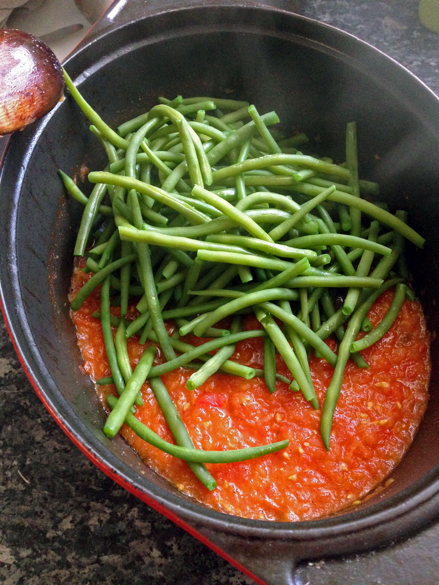 haricots verts sauce tomate chez becky et liz blog de cuisine anglaise. Black Bedroom Furniture Sets. Home Design Ideas