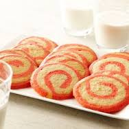 Pink swirl biscuits