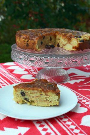 Malagsy bread pudding
