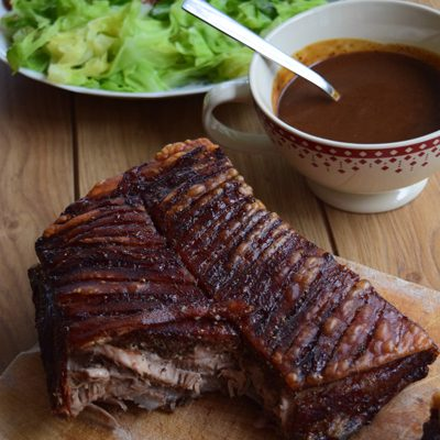 Crackling pork belly