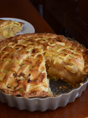 British apple pie (tourte aux pommes)