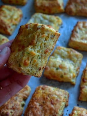 Sausage and cheddar buttermilk biscuit
