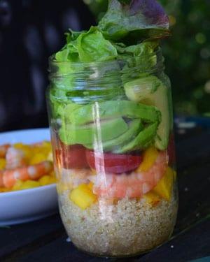 Salade en bocal (salad jar exotique)